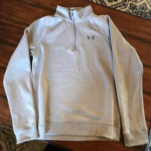 Under Armour boys 3/4 gray sweater
